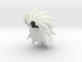 Custom Vegeta SSj3 Inspired Hair for Lego in White Natural Versatile Plastic
