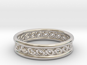 GBW6 Wmns Loop Band in Rhodium Plated Brass