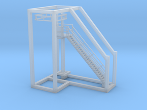 Tank Car Unloading Platform in Smooth Fine Detail Plastic