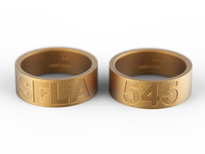 SFLA / 545 (size 9) in Polished Gold Steel