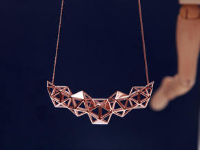 Icosahedron Pendent in 14k Rose Gold Plated