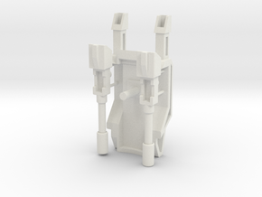 Customatron - Nephthys - Backpack Kit in White Natural Versatile Plastic
