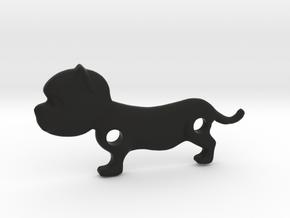 Bulldog Pendant in Black Natural Versatile Plastic