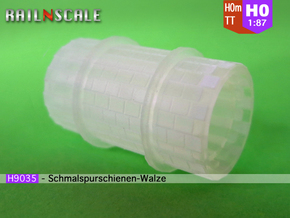 Meterspurschienen-Walze (H0m 1:87) in Smooth Fine Detail Plastic