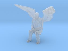 Castiel Sitting in Smooth Fine Detail Plastic