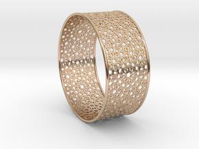 7cm Bracelet Flower Pattern Flat in 14k Rose Gold Plated Brass