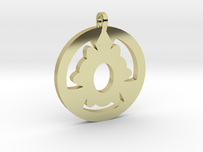 Pendant in 18k Gold Plated Brass