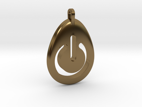 Power Pendant in Polished Bronze