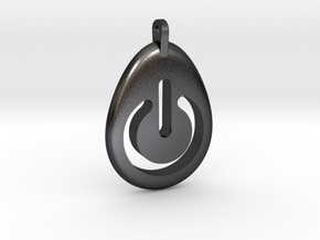 Power Pendant in Polished and Bronzed Black Steel