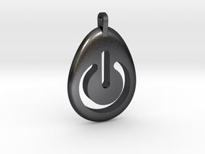 Power Pendant in Polished Grey Steel