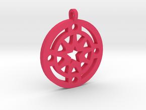 Star Pendant in Pink Processed Versatile Plastic