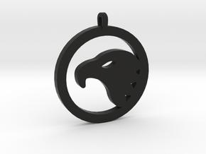 Eagle Eye Pendant in Black Natural Versatile Plastic