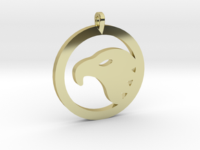 Eagle Eye Pendant in 18k Gold Plated Brass