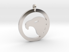 Eagle Eye Pendant in Rhodium Plated Brass