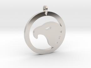 Eagle Eye Pendant in Rhodium Plated Brass