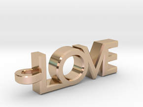 Love Pendant in 14k Rose Gold Plated Brass