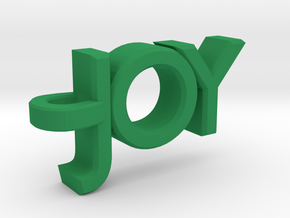 Joy Pendant in Green Processed Versatile Plastic