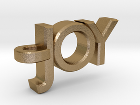Joy Pendant in Polished Gold Steel