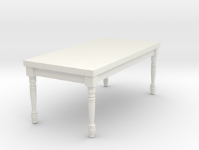 1:24 Half Scale French Country Dining Table 1 in White Natural Versatile Plastic