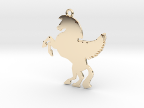 Unicorn Pendant in 14K Yellow Gold