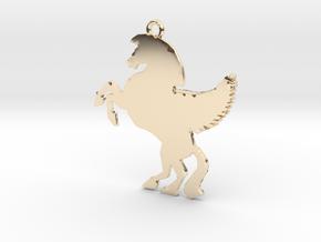 Unicorn Pendant in 14K Yellow Gold