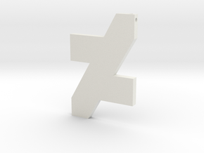DA Logo 2 Normal CH9 in White Natural Versatile Plastic
