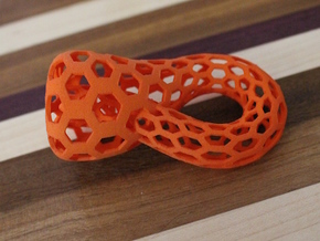 Klein Bottle, Small in Orange Processed Versatile Plastic