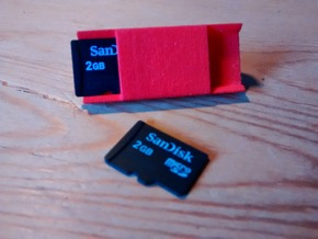 Watchband microSD holder in Red Processed Versatile Plastic