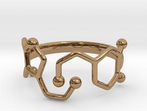 Dopamine Serotonin Ring - Size 7 in Polished Brass