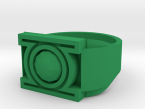 Green Lantern Ring 13 V3 in Green Processed Versatile Plastic