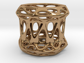 Candle Holder 3cm (001) in Polished Brass
