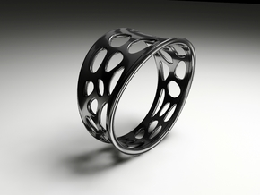Ringometric A in Fine Detail Polished Silver