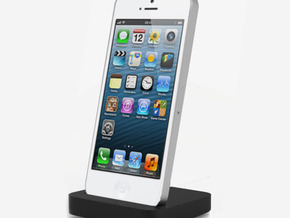 Iphone 5 elevation dock in White Natural Versatile Plastic