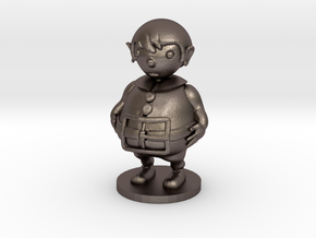 Little boy in Polished Bronzed Silver Steel