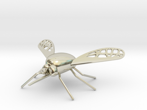 Bee Fly Pendant in 14k White Gold