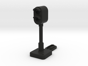 OO Signal Light for Model Railways in Black Natural Versatile Plastic