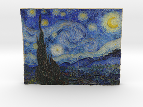 Starry Night (Vincent van Gogh) in Full Color Sandstone