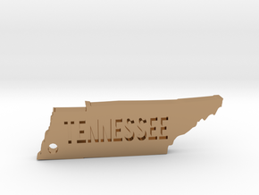 Tennessee Keychain in Polished Brass