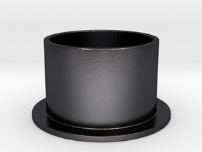 Top Hat Ring in Polished Grey Steel