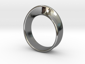 Moebius Ring 19.5 in Fine Detail Polished Silver