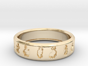 PokemonRing - Size 7 Test in 14k Gold Plated Brass