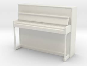 Miniature 1:48 Upright Piano in White Strong & Flexible