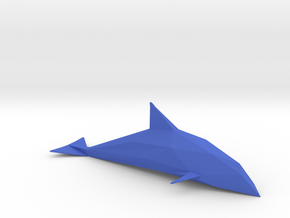 Diamond Cut Dolphin in Blue Processed Versatile Plastic