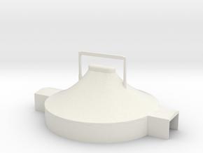 Zelt 18 Meter - 1:220 (Z scale) in White Natural Versatile Plastic