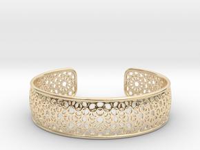 Open Flower Pattern Bracelet in 14K Yellow Gold