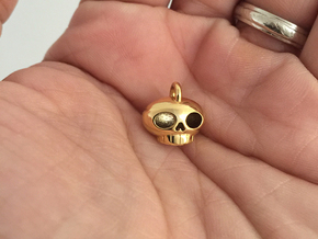 Little Skull Pendant in 18k Gold Plated Brass