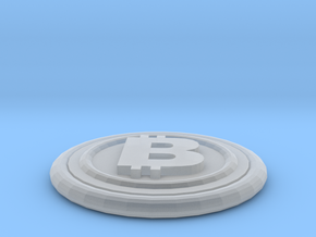 Bitcoin in Smooth Fine Detail Plastic
