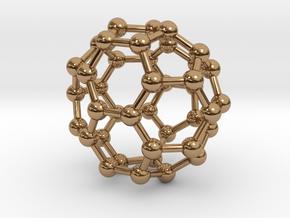 0149 Fullerene C40-37 c2v in Polished Brass