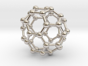 0149 Fullerene C40-37 c2v in Rhodium Plated Brass