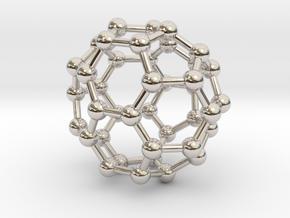 0149 Fullerene C40-37 c2v in Rhodium Plated Brass